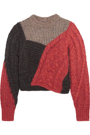 Daryl color-block paneled knitted sweater