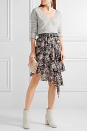 Étoile Isabel Marant Jeezon asymmetric tiered printed georgette skirt