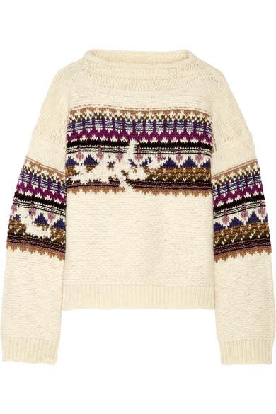Isabel Marant Étoile | Elsey Fair Isle wool-blend sweater | NET-A ...