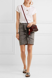 Étoile Isabel Marant Noora ruffled plaid stretch-cotton skirt