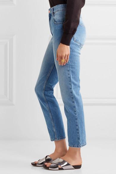 7e12e38f641a Isabel Marant Étoile. Cliff high-rise straight-leg jeans.  115. Play