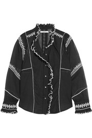 Isabel Marant Étoile Lauryn embroidered cotton-voile blouse