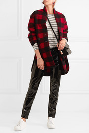 Gino oversized checked wool-blend coat