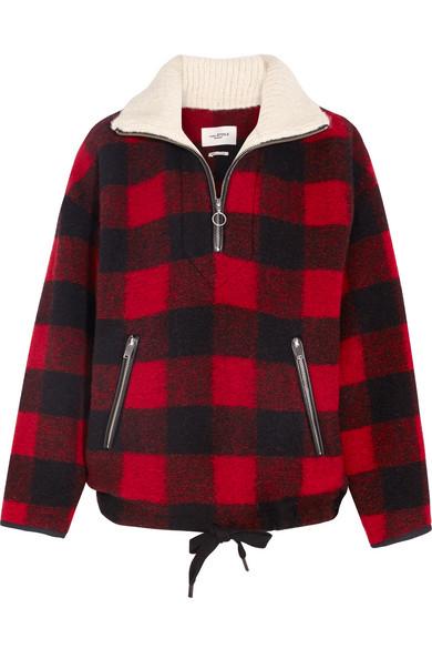 780fd400ac83cd Isabel Marant Étoile   Gilas checked brushed wool-blend jacket   NET ...