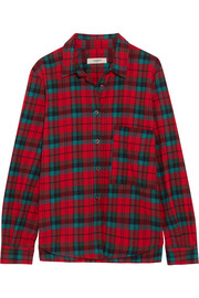 Cazora plaid brushed-cotton shirt