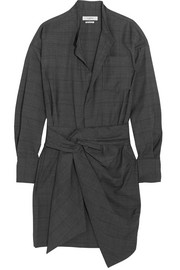 Étoile Isabel Marant Nolla knotted plaid wool mini dress