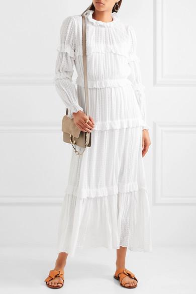 e8024b12a1dd0 Isabel Marant Étoile. Yukio tiered Swiss-dot cotton maxi dress