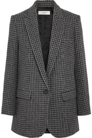 Ice houndstooth wool-blend blazer