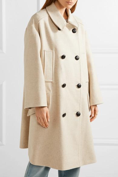9e690364aafb Isabel Marant Étoile. Flicka double-breasted wool-blend coat