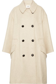 Flicka double-breasted wool-blend coat