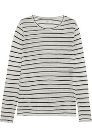 Étoile Isabel Marant Aaron striped slub linen-blend jersey top