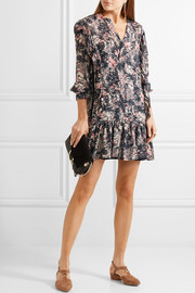 Étoile Isabel Marant Jedy ruffle-trimmed printed georgette mini dress