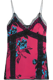 McQ Alexander McQueen Decon lace-trimmed printed camisole