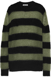 McQ Alexander McQueen Oversized striped wool-blend sweater dress