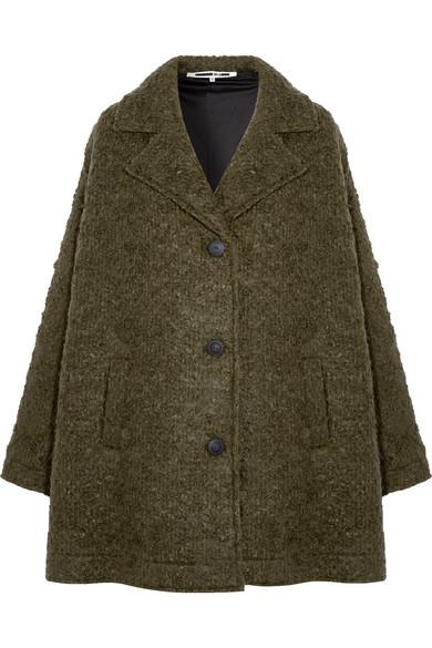 McQ Alexander McQueen - Caban Oversized Wool-blend Bouclé Coat - Army green