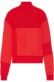 McQ Alexander McQueen Wool and cashmere-blend turtleneck sweater