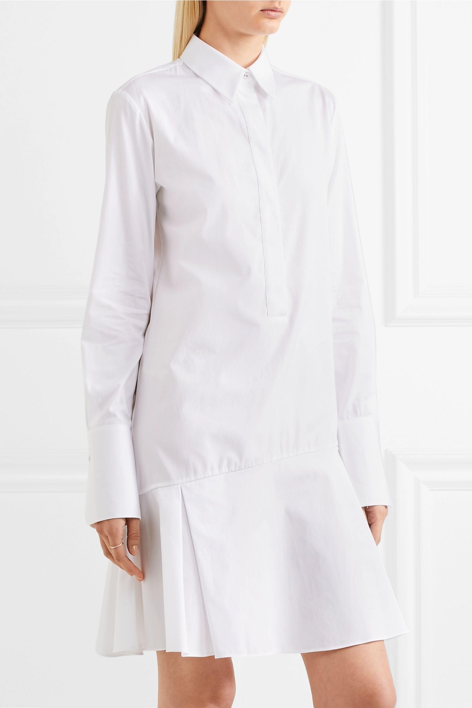 Victoria, Victoria Beckham Pleated cotton-poplin dress
