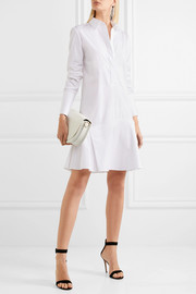 Victoria, Victoria Beckham Pleated cotton-poplin dress