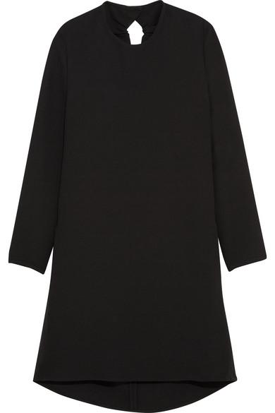 Gathered Cutout Crepe Mini Dress - Black Victoria Beckham Pictures Cheap Online j0yFesykCV