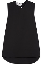 Victoria, Victoria Beckham Gathered cutout crepe top