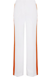 Victoria, Victoria Beckham Striped crepe wide-leg pants
