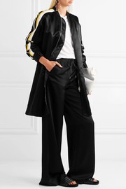 Victoria, Victoria Beckham Oversized striped satin jacket