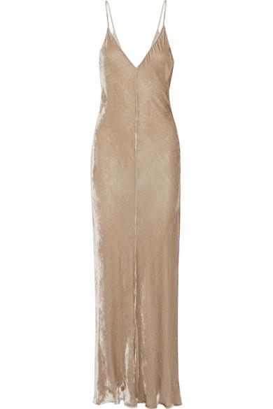 Juan Carlos Obando - Velvet Gown - Beige