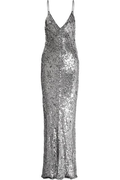 Juan Carlos Obando - Sequined Tulle Gown - Metallic