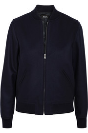 A.P.C. Atelier de Production et de Création Norma wool-blend felt bomber jacket