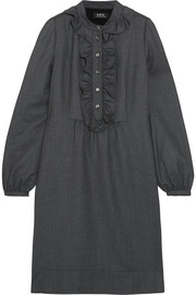 A.P.C. Atelier de Production et de Création Anita ruffle-trimmed wool dress