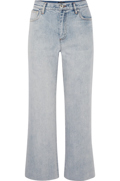 Sailor Cropped High-rise Straight-leg Jeans - Mid denim A.P.C. NgrZ2oh