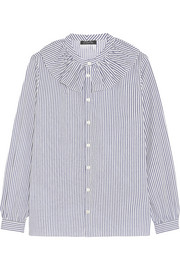A.P.C. Atelier de Production et de Création Sixtine ruffled striped cotton shirt