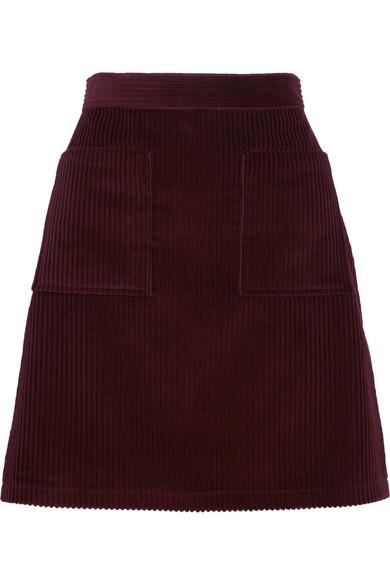 Burgundy Corduroy Skirt APC