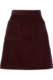 A.P.C. Atelier de Production et de Création Solene cotton-corduroy mini skirt
