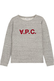 A.P.C. Atelier de Production et de Création Ethel flocked cotton-blend jersey sweatshirt