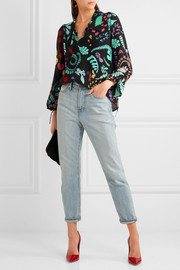 Orlagh printed silk blouse