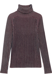Carven Striped cotton-blend turtleneck sweater