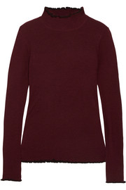 Carven Ribbed merino wool-blend turtleneck sweater