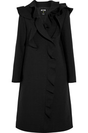Ruffled crepe coat