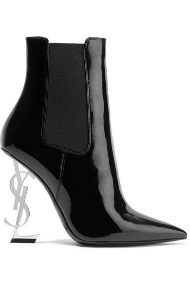 Saint Laurent Opyum Ankle Boots aus Lackleder