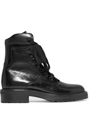 Saint Laurent William glossed-leather ankle boots
