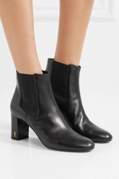 9278d99c58 SAINT LAURENT | Loulou leather ankle boots | NET-A-PORTER.COM