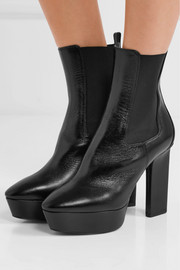 Vika leather platform ankle boots