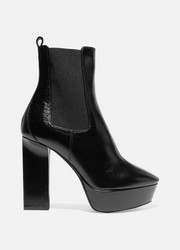 Saint Laurent Bottines plates-formes en cuir Vika
