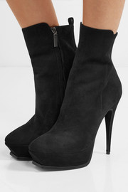 Saint Laurent Tribute suede platform ankle boots