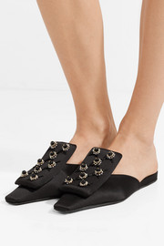 Marni Embellished satin slippers