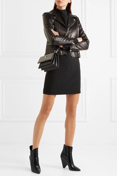 Saint Laurent Niki Leather Ankle Boots Net A Porter Com