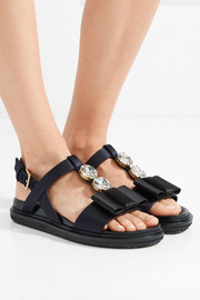 Marni Embellished satin sandals