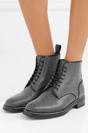 Saint Laurent William studded leather ankle boots