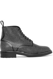 William studded leather ankle boots